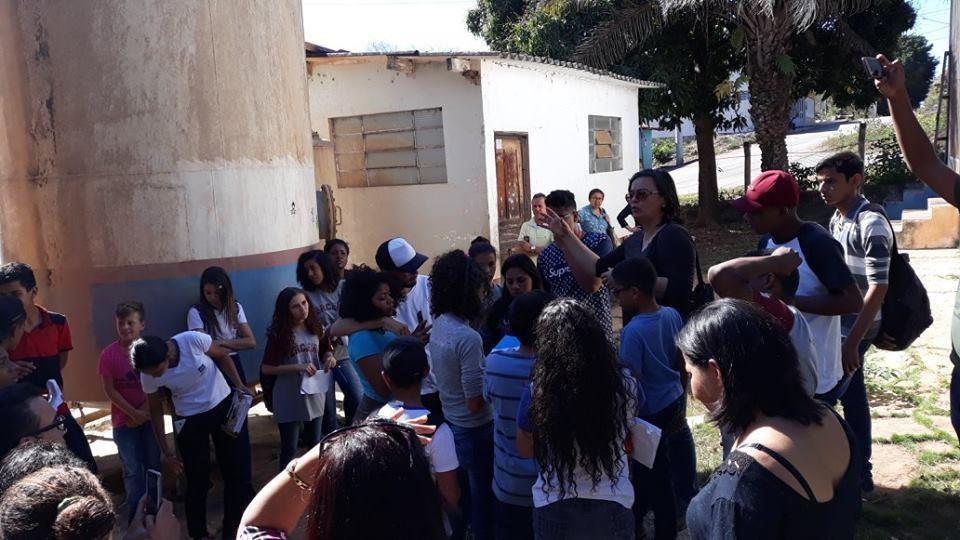Visita a ETA Estação de tratamento de Água no município de Barão de Melgaço